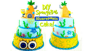 spongebob cake toppers spongebob cake with a rice krispie pineapple cake topper