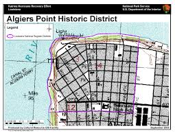 Downtown New Orleans Map by Ncptt Maps And Lists Katrina Rita