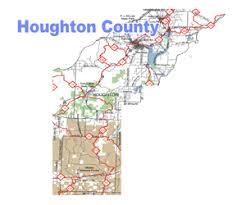map of calumet michigan houghton county michigan snowmobile trail map
