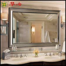 Frames For Bathroom Wall Mirrors Bathroom Wood Frame Wall Mirror Decorating With Decorative