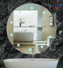 Backlit Bathroom Mirror by Oval Bathroom Mirror With Led Light Anti Fog Backlit Bathroom