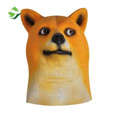 Doge Meme Shiba - china factory price doge meme mask kabosu face latex headgear such