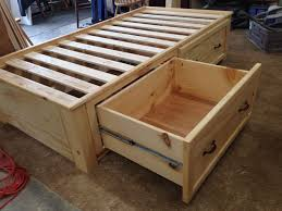 Woodworking Plans For Twin Storage Bed by Best 25 Twin Bed With Drawers Ideas On Pinterest Wood Twin Bed