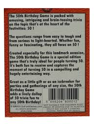 the 50th birthday game amusing gift idea or party fun ice