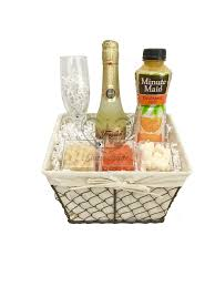 same day delivery gift baskets the chagne mimosa gift basket is available for same day