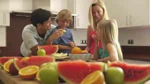 young family advertising healthy eating stock video footage