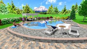 Backyard Design Software by Interior Appealing Delightful Swimming Pool Landscape Design
