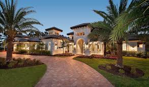 Mediterranean Homes Plans Luxury Villa With Spanish Influences 66351we Florida