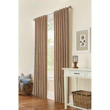 taupe curtains u0026 drapes window treatments the home depot