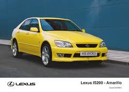 2001 lexus is300 yellow is archive toyota uk media site
