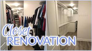 Laundry Room Closet by Closet Renovation Laundry Room Addition Spring 2017 Youtube