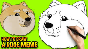 How To Make A Doge Meme - how to draw a doge meme shiba inus easy step by step drawing