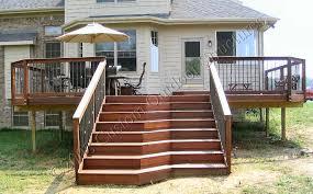 custom made decks using cedar composite materials brazilian