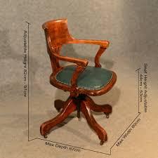 antique oak office desk elbow study swivel chair antiques atlas