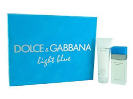 light blue fragrance gift set amazon com donna karan light blue by dolce and gabbana gift set