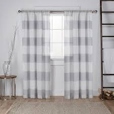 Grey Sheer Curtains Darma Dove Grey Sheer Linen Rod Pocket Top Window Curtain Eh7949