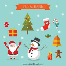 christmas cartoon decoration elements vector free download