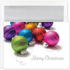 colored ornaments cards from the impressions blank