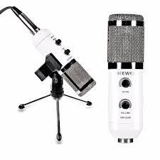 microphone de bureau neewer nw 300e usb microphone à condensateur papillon clip