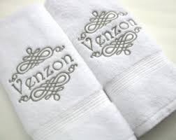 wedding gift towels embroidered towels etsy