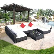 patio ideas belmont brown wicker patio sectional seating