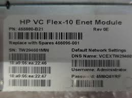 Home 10gb Switch by Hp Virtual Connect Vc Flex 10 10gb Switch Bl C7000 C3000 456095