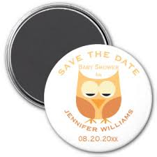 Baby Shower Save The Date Owls Baby Shower Save Date Gifts On Zazzle