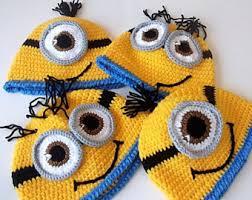 minion hats crochet baby yellow minion hat halloween