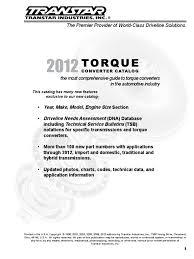 torque converter catalog 2012 lores