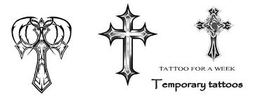 Cross Tattoos - meaning of cross tattoos temporary