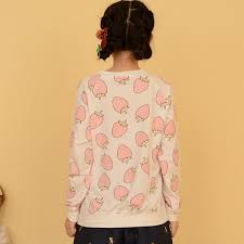 strawberry sweater harajuku strawberry pineapple sweatshirts on luulla