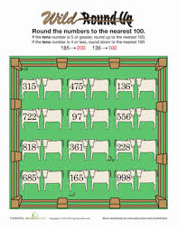 rounding to the nearest hundred rounding place value worksheets