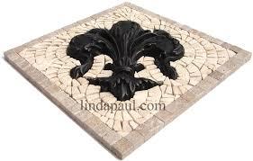 tile medallions for kitchen backsplash small kitchen back splash medallions mosaic and metal