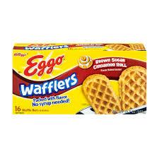 Toaster Waffles Kellogg U0027s Eggo Thick U0026 Fluffy Cinnamon Brown Sugar Waffles 6