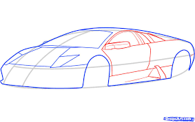 lamborghini aventador drawing outline draw a lamborghini murcielago lamborghini murcielago step by