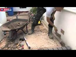 Laying Patio Slabs Laying Paving Slabs Youtube