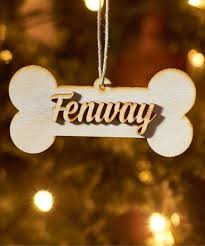 unfinished wood co unfinished personalized bone ornament zulily