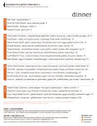 peep the menu at the new kitchen lto in deep ellum foodbitch