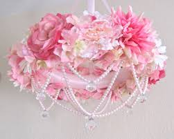 simply shabby chic misty rose baby mobile flower crib mobile floral chandelier shabby chic pink