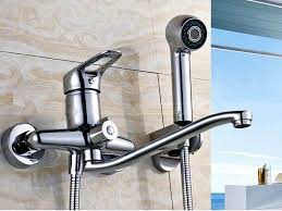 wall mounted kitchen faucet with sprayer wall mount kitchen faucet with sprayer of the best wall mount