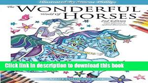 anatomy coloring book download download the wonderful world of horses 2nd edition