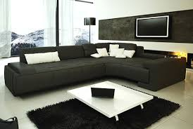 Modern Sectional Sofas Collection Modern Sectional Sofa Black Tos Lf 1007 Black