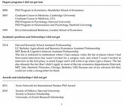 Resume Job Quartz by A Princeton Professor Published A Cv Of His Failures Online And