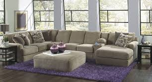 couch taupe malibu modular sectional w chaise taupe sectionals living