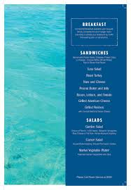 family garden menu carnival vista family harbor havana room service chef u0027s menus