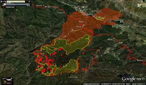 Wildfire Perimeter Map by King Fire Saturday Update Fire Grows Slightly Weather Helpful