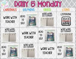 the daily five printables going strong in 2nd grade how we do daily 5