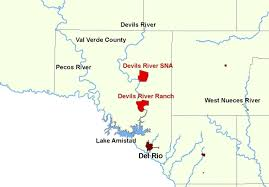 Map Of The State Of Texas Devil U0027s River Ranch A Christmas Gift For The State Of Texas