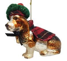 december diamonds glass ornament beagle in winter clothes home