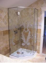 Extraordinary Glass Shower Design Corner Shower Space Savingjpg - Bathroom glass designs